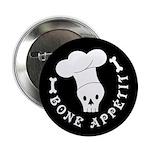 "Bone Appetit Skeleton Chef 2.25"" Button (10 p"