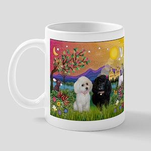 Fantasy Land & 2 Poodles Mug