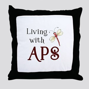 Living with APS - Dragonfly Throw Pillow