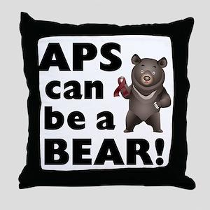 APS Can Be a Bear! Throw Pillow