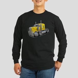 Kenworth W900 Yellow Truck Long Sleeve Dark T-Shir