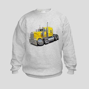 Kenworth W900 Yellow Truck Kids Sweatshirt