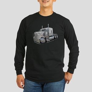 Kenworth W900 White Truck Long Sleeve Dark T-Shirt