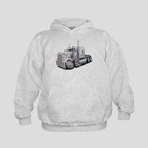 Kenworth W900 White Truck Kids Hoodie