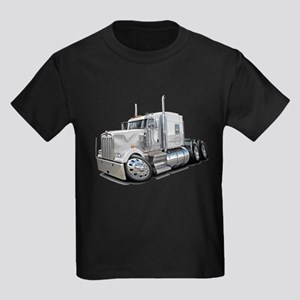 Kenworth W900 White Truck Kids Dark T-Shirt