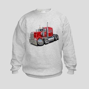 Kenworth W900 Red Truck Kids Sweatshirt