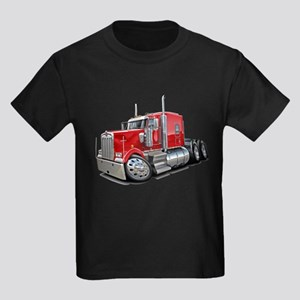 Kenworth W900 Red Truck Kids Dark T-Shirt