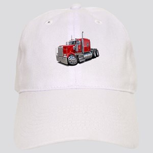 Kenworth W900 Red Truck Cap