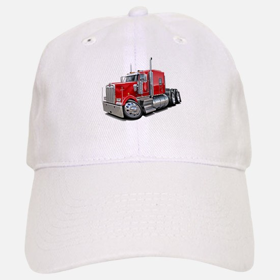 Kenworth W900 Red Truck Baseball Baseball Cap