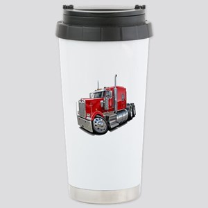 Kenworth W900 Red Truck Stainless Steel Travel Mug