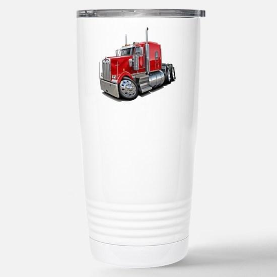 Kenworth W900 Red Truck Stainless Steel Travel Mug