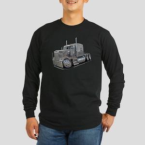 Kenworth W900 Silver Truck Long Sleeve Dark T-Shir