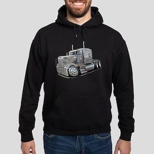 Kenworth W900 Silver Truck Hoodie (dark)