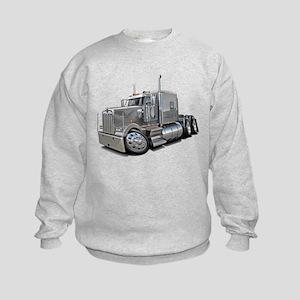 Kenworth W900 Silver Truck Kids Sweatshirt