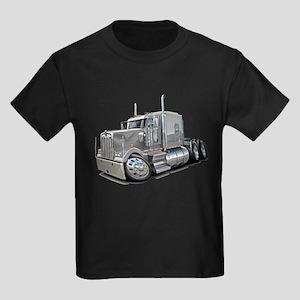 Kenworth W900 Silver Truck Kids Dark T-Shirt