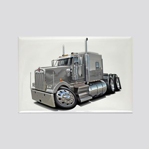 Kenworth W900 Silver Truck Rectangle Magnet