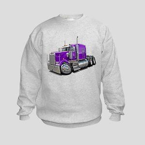 Kenworth W900 Purple Truck Kids Sweatshirt