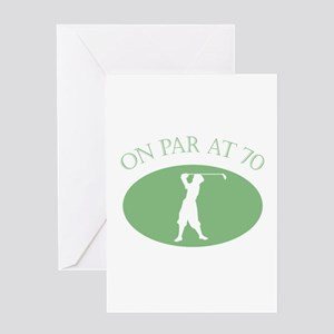 On Par At 70 Greeting Card