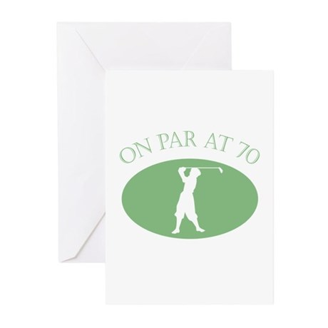 On Par At 70 Greeting Cards (Pk of 10)