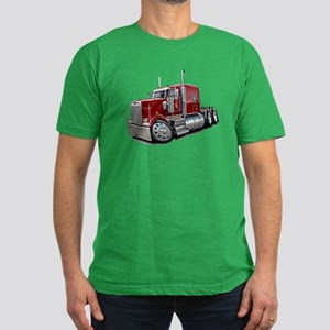 Kenworth W900 Maroon Truck Men's Fitted T-Shirt (d