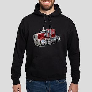 Kenworth W900 Maroon Truck Hoodie (dark)
