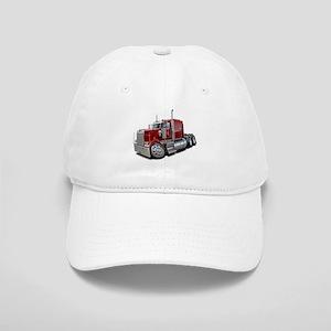 Kenworth W900 Maroon Truck Cap