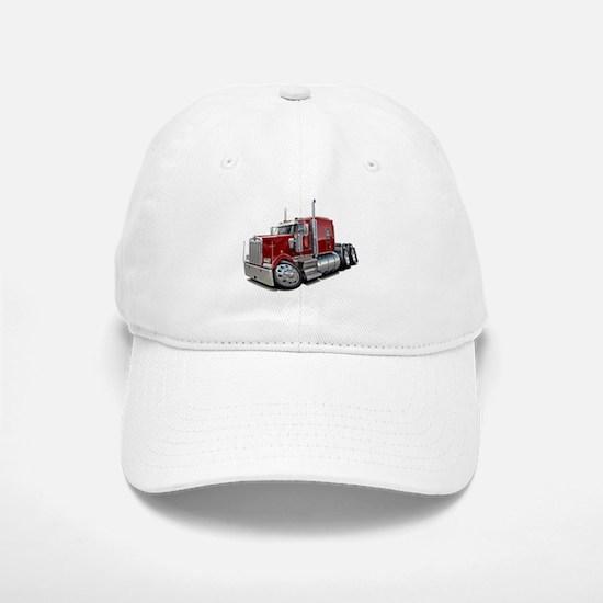 Kenworth W900 Maroon Truck Baseball Baseball Cap