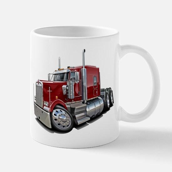 Kenworth W900 Maroon Truck Mug