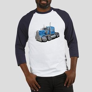 Kenworth W900 Lt Blue Truck Baseball Jersey