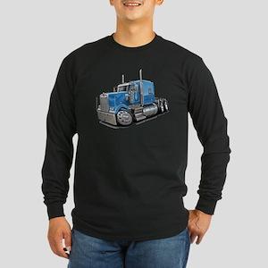 Kenworth W900 Lt Blue Truck Long Sleeve Dark T-Shi