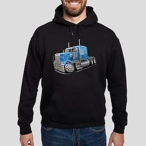 Kenworth W900 Lt Blue Truck Hoodie (dark)