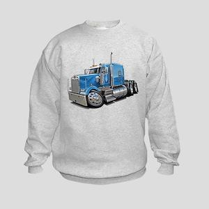 Kenworth W900 Lt Blue Truck Kids Sweatshirt