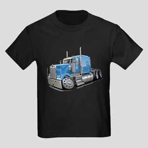 Kenworth W900 Lt Blue Truck Kids Dark T-Shirt
