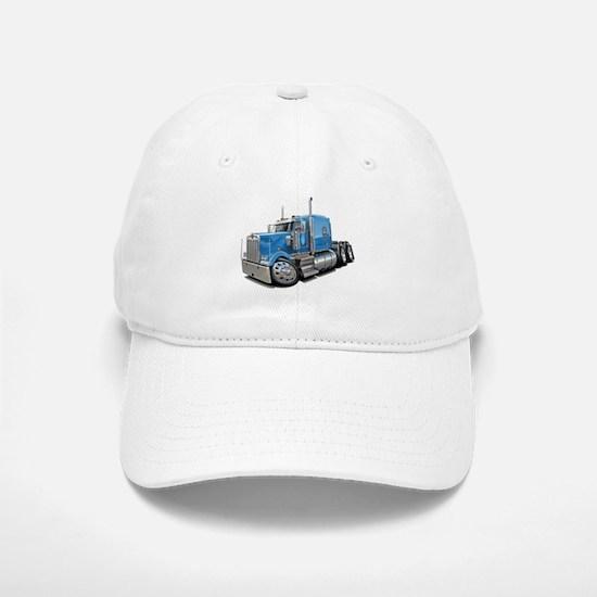 Kenworth W900 Lt Blue Truck Baseball Baseball Cap