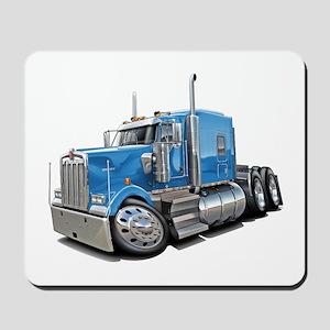 Kenworth W900 Lt Blue Truck Mousepad
