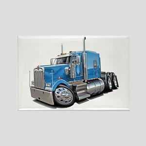 Kenworth W900 Lt Blue Truck Rectangle Magnet