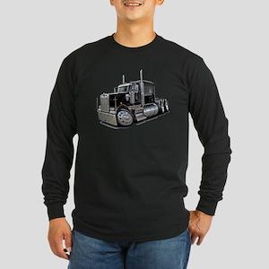 Kenworth W900 Black Truck Long Sleeve Dark T-Shirt