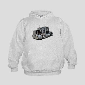 Kenworth W900 Black Truck Kids Hoodie