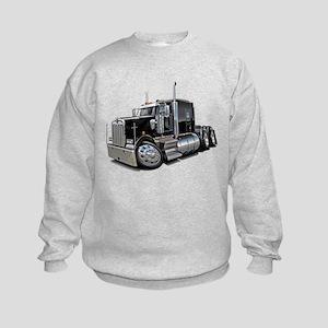 Kenworth W900 Black Truck Kids Sweatshirt