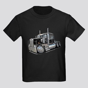 Kenworth W900 Black Truck Kids Dark T-Shirt
