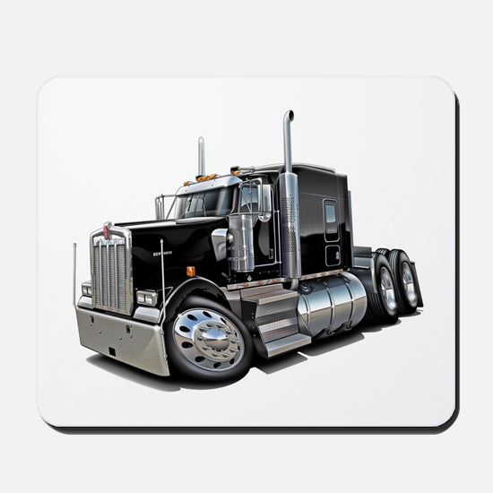Kenworth W900 Black Truck Mousepad