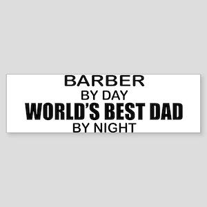 World's Best Dad - Barber Sticker (Bumper)