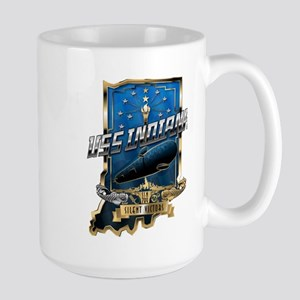 USS Indiana Crest 15 oz Ceramic Large Mug