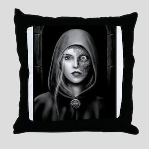 Half Dead Hel Throw Pillow