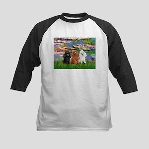 Lilies #2/3 Poodles (TM) Kids Baseball Jersey