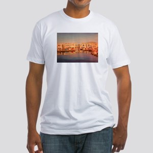 the harbour in naoussa Fitted T-Shirt