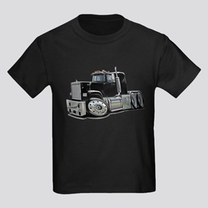 Mack Superliner Black Truck Kids Dark T-Shirt