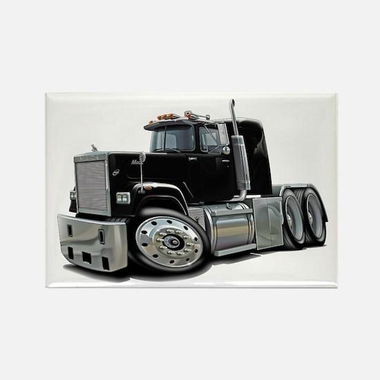 Mack Superliner Black Truck Rectangle Magnet