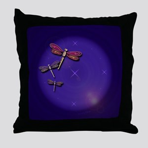 Starry Skies Dragonflies Throw Pillow