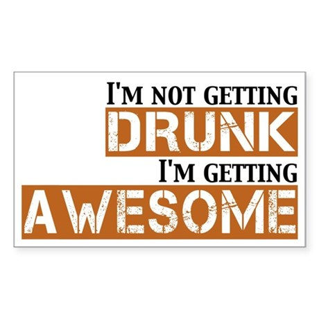 Drunk Awesome Sticker (Rectangle)